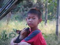 ธนภัทร  เข็มเพชร กับสุนัขตัวโปรด