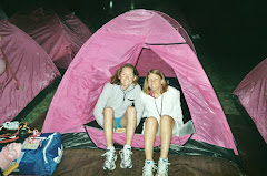Emily and I in one of the many pink tents