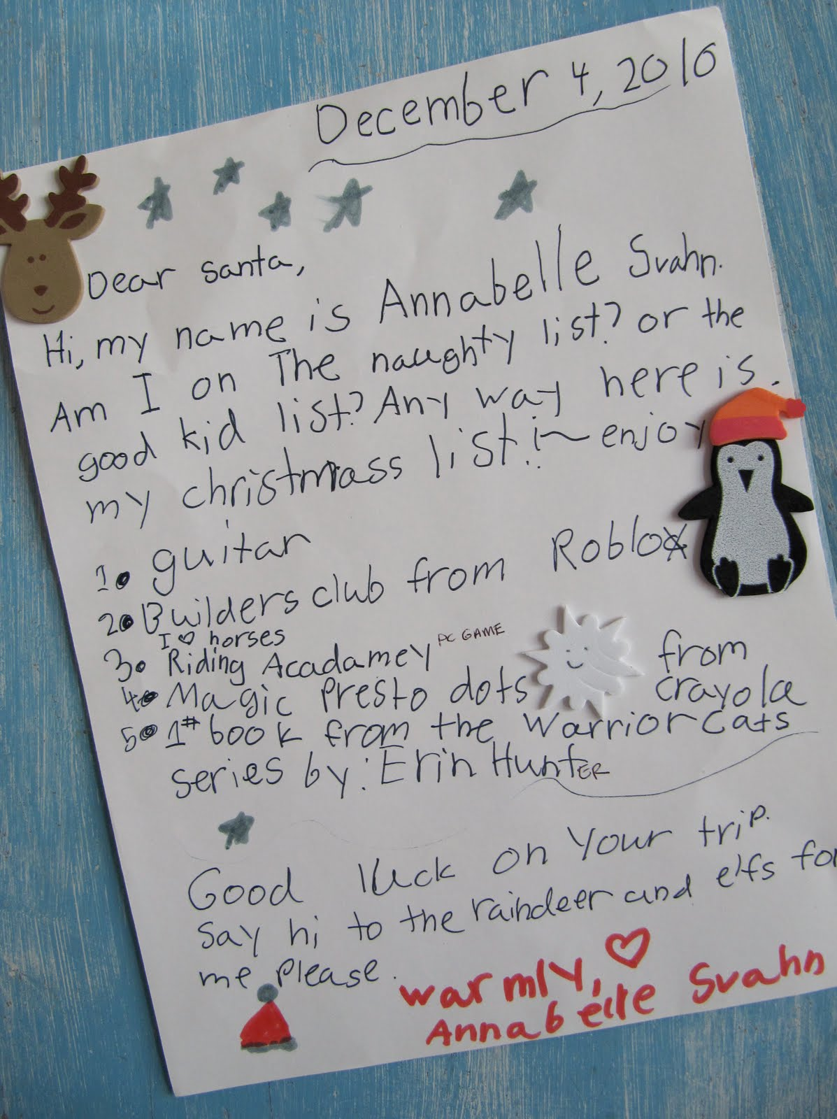 william arthur blog letters to santa thank you notes