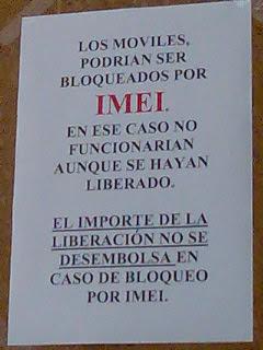 Móviles bloqueados por IMEI