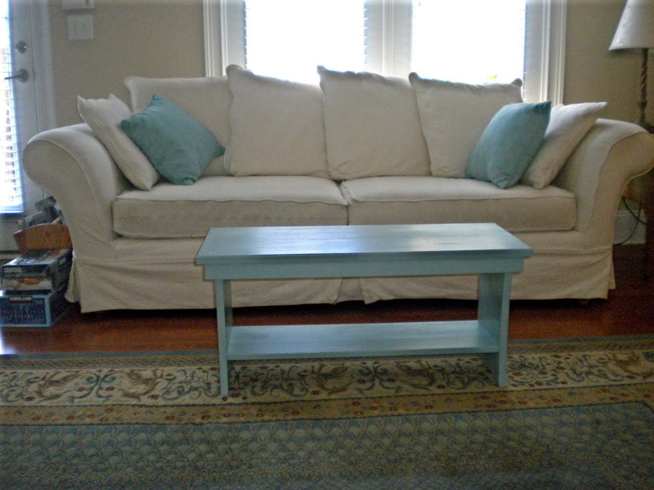 Sherri's Jubilee: Here is the coffee table my Dad and I made!