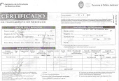 Certificado de disposición de basura.