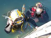 Servicios de Buceo, para inspecciones de cascos sin salida a seco.