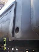Reparacion y modificacion de correderas para pescantes de buques areneros.