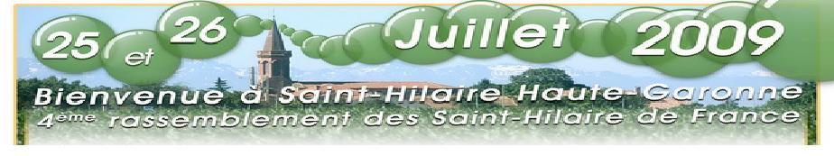 Rassemblement des SAINT HILAIRE de France 2009
