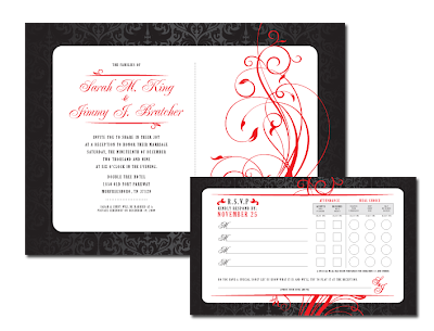 red black and white wedding invitations. of red black and white.