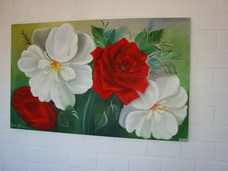 Videos Aulas de Pinturas em telas, quadros  - Fotos De Pinturas Em Telas De Flores