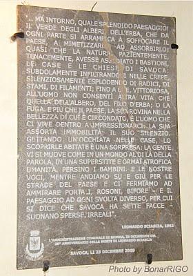 LEONARDO SCIASCIA. VISSE A SAVOCA (per una settimana circa) NEL 1962