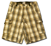 Fairly ugly pair of yellow madras shorts