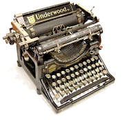 Old-fashioned Underwood brand manual typewriter