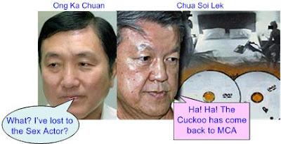 Ong Ka Chuan lost to Chua Soi Lek