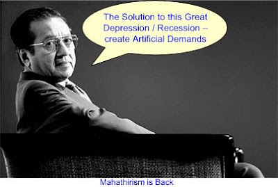 Mahathir create artificial demands