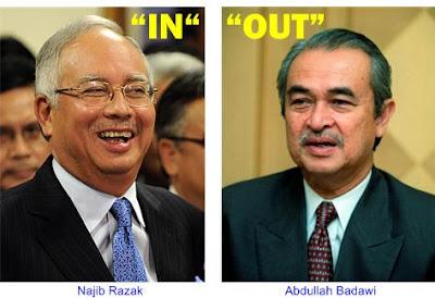 Najib In Badawi Out