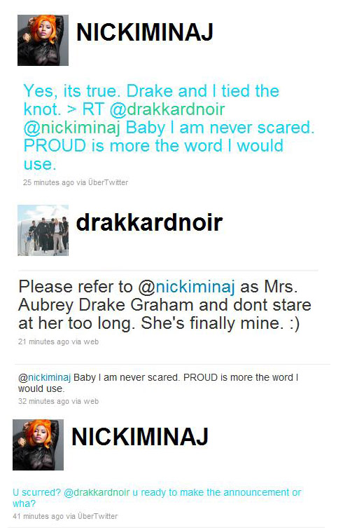 nicki minaj and drake married pictures. After all Drake loves Nicki