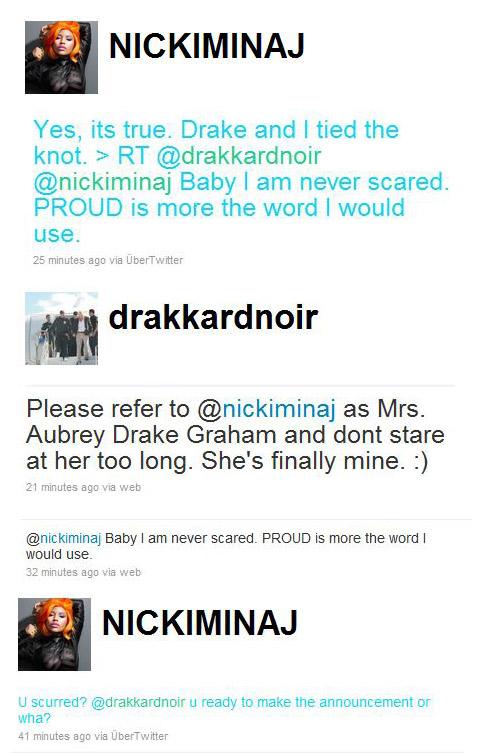 nicki minaj and drake married video. After all Drake loves Nicki