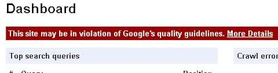 Google Webmaster blog di ban
