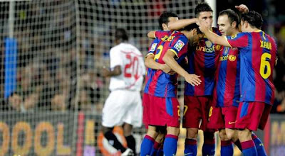 skor Barcelona vs Sevilla