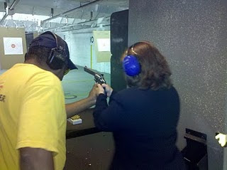 Anna Little at ShoreShot Pistol Range
