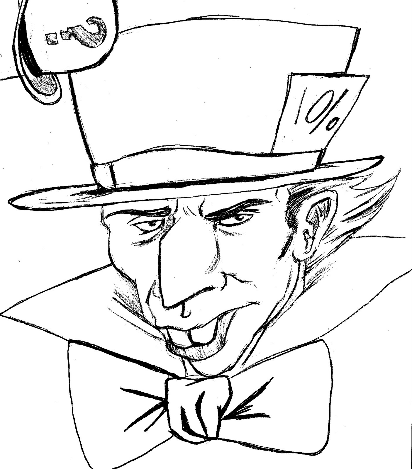 mad hatter coloring pages - photo#17