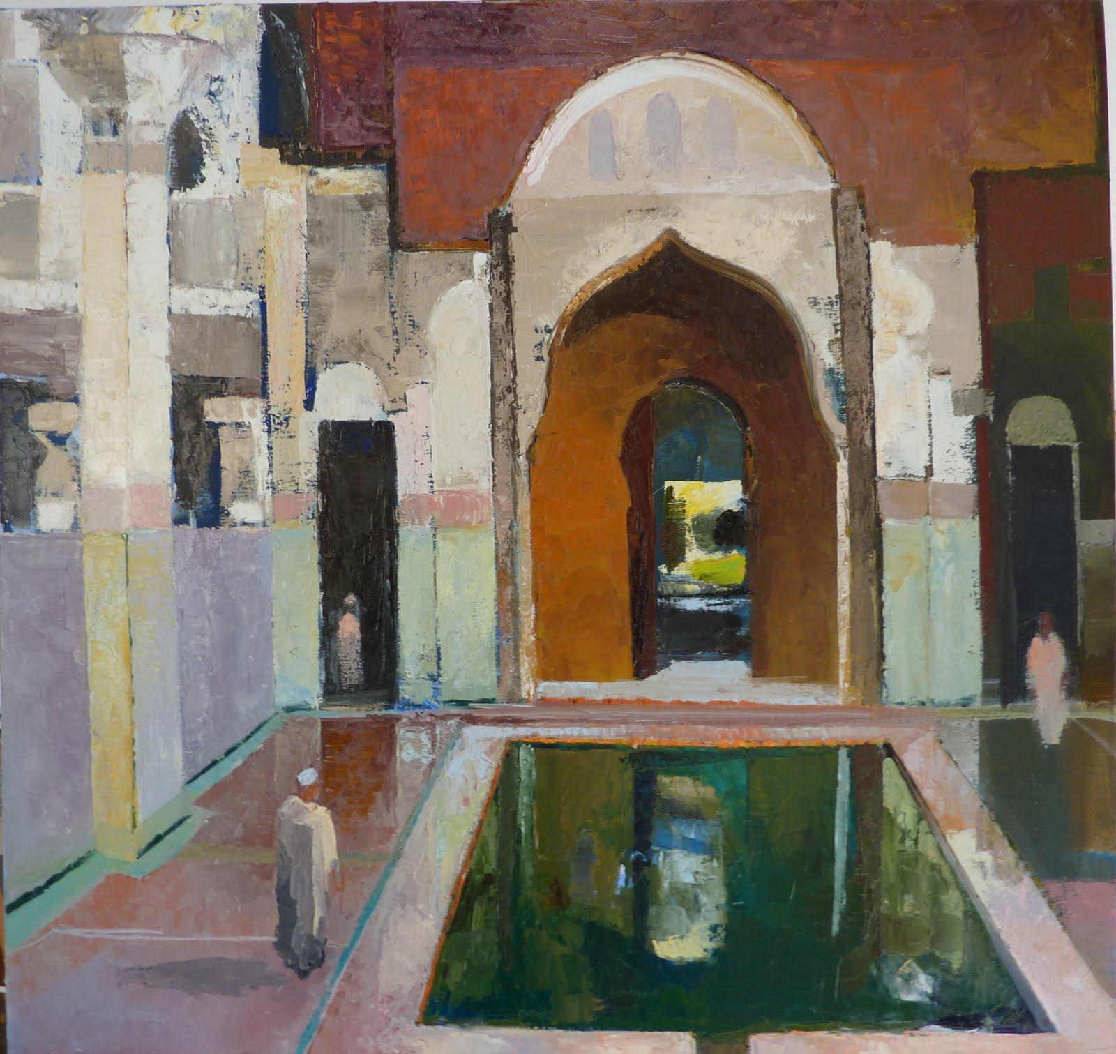 Peinture orientaliste interieur maroc for Peintre interieur