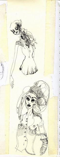 dibujos en hoja blanca