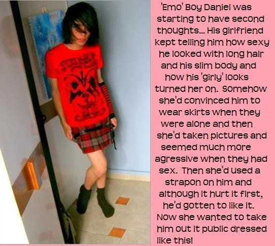 Forced Feminization Captions Blog http://jasm05-mytgcaptionscollection.blogspot.com/2010/03/cheerleader-emo-and-sissy.html