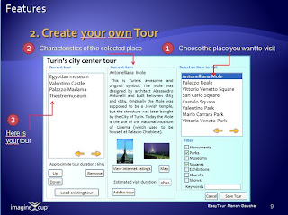 Storyboard Interface Design EasyTour