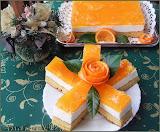 Mandarinos joghurtszelet