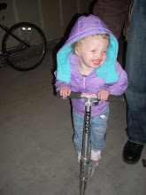 Learning to ride a scooter