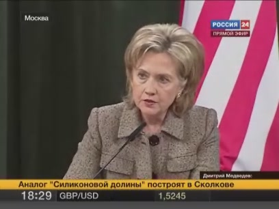 Secretary of State Hillary Clinton press conference, Moscow, Russia, 2010