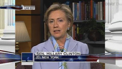 HRC NBC Today Show economic crisis, bailout