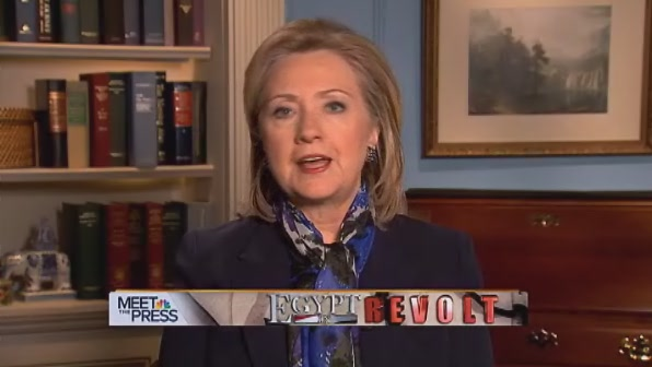 HRC Secretary of State interview Egypt Mubarak NBC News State Department DC