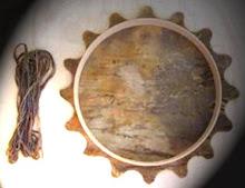 Kit de tambor / Couro de bufalo, cavalo ou veado.