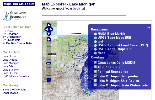 mapping Great Lakes data?