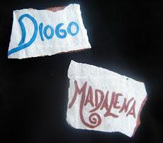 nomes em cerâmica