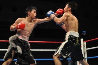 大場、池原ストップしてV5-日本バンタム級戦