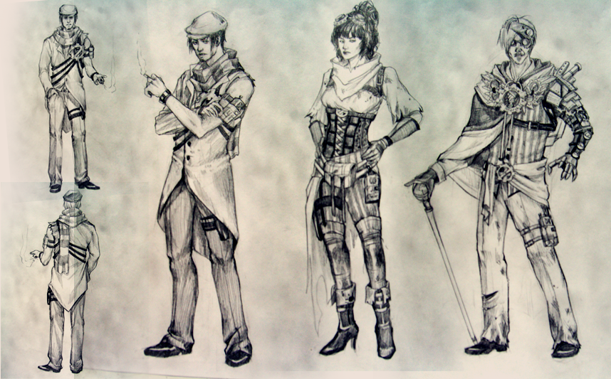 Character Design Lineup : Feral talent