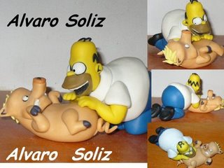 Homero con el puerco arana