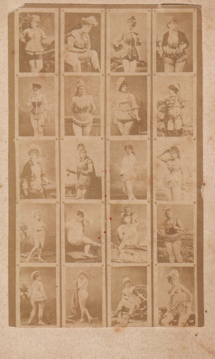 Carte De Visite Salesman Sample For Hot French Vintage Dames In Which Is Defined
