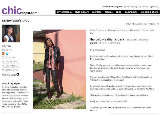 You Can Check ME Out at Chictopia.com Too!