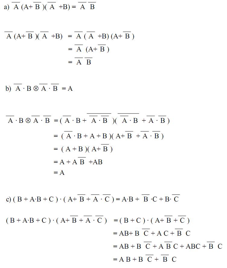Corrigés Exercices Algèbre de boole et circuits logiques ...
