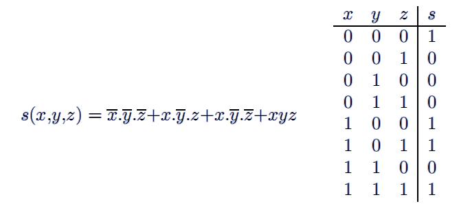 Exercices circuit logique table de v rit et table de for Les circuit logique