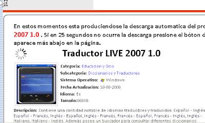 Traducción de texto en tiempo real