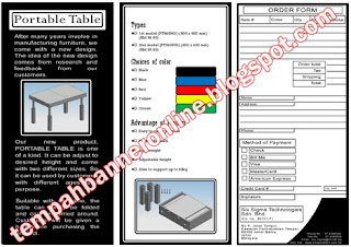 Contoh Brochure yang telah dihasilkan :