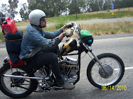 Love Cycles 1963 panhead on the road