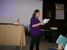 A poetisa Eliane Duarte participou com poemas inéditos e do livro