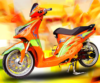 Modifikasi Yamaha mio Thailand 2010 sporty