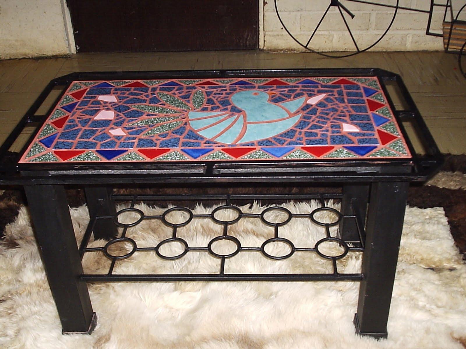 Fierro y dise os mesa de centro para mosaico for Disenos para mosaicos