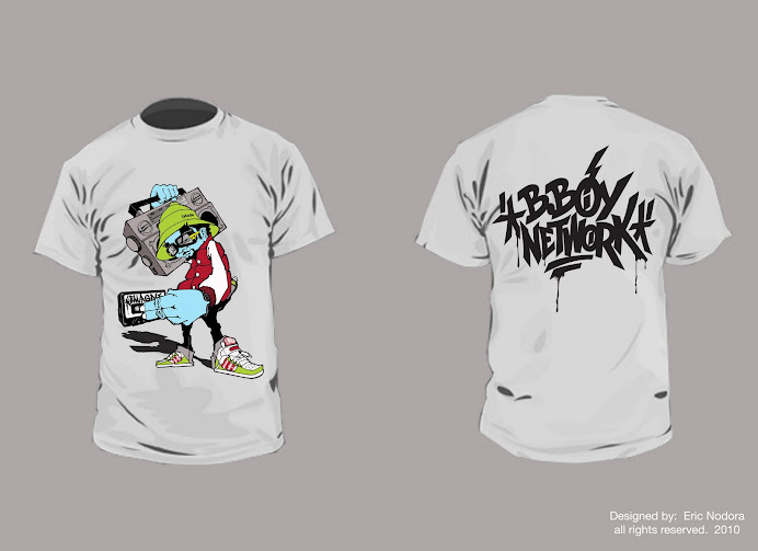 """BBOY NETWORK"" tshirt design"