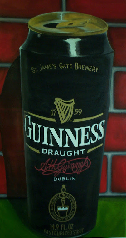 """Guinness Can""  Acrylic on canvas"